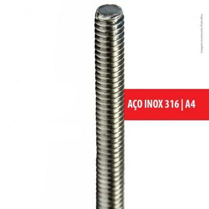 BARRA ROSCADA AÇO INOX – 1 M - 1